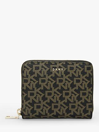 DKNY Bryant Logo Zip Around Purse