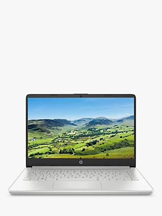 "HP 14s-dq0000na Laptop, Intel Pentium Gold Processor, 4GB RAM, 128GB SSD, 14"" Full HD, Natural Silver"