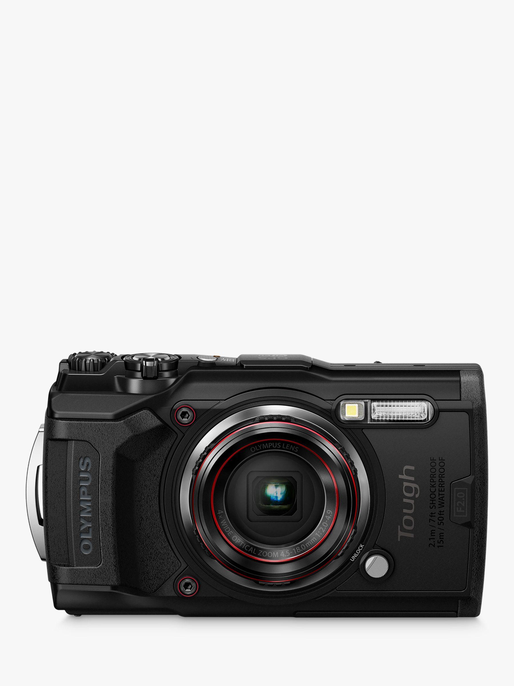 Olympus Tough TG-6 GPS Waterproof, Freezeproof, Shockproof, Dustproof  Compact Digital Camera, 12MP, 4K UHD, 4x Optical Zoom, Wi-Fi, RAW Shooting,  3