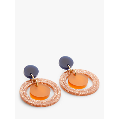 Image of Toolally Circle Drop Earrings