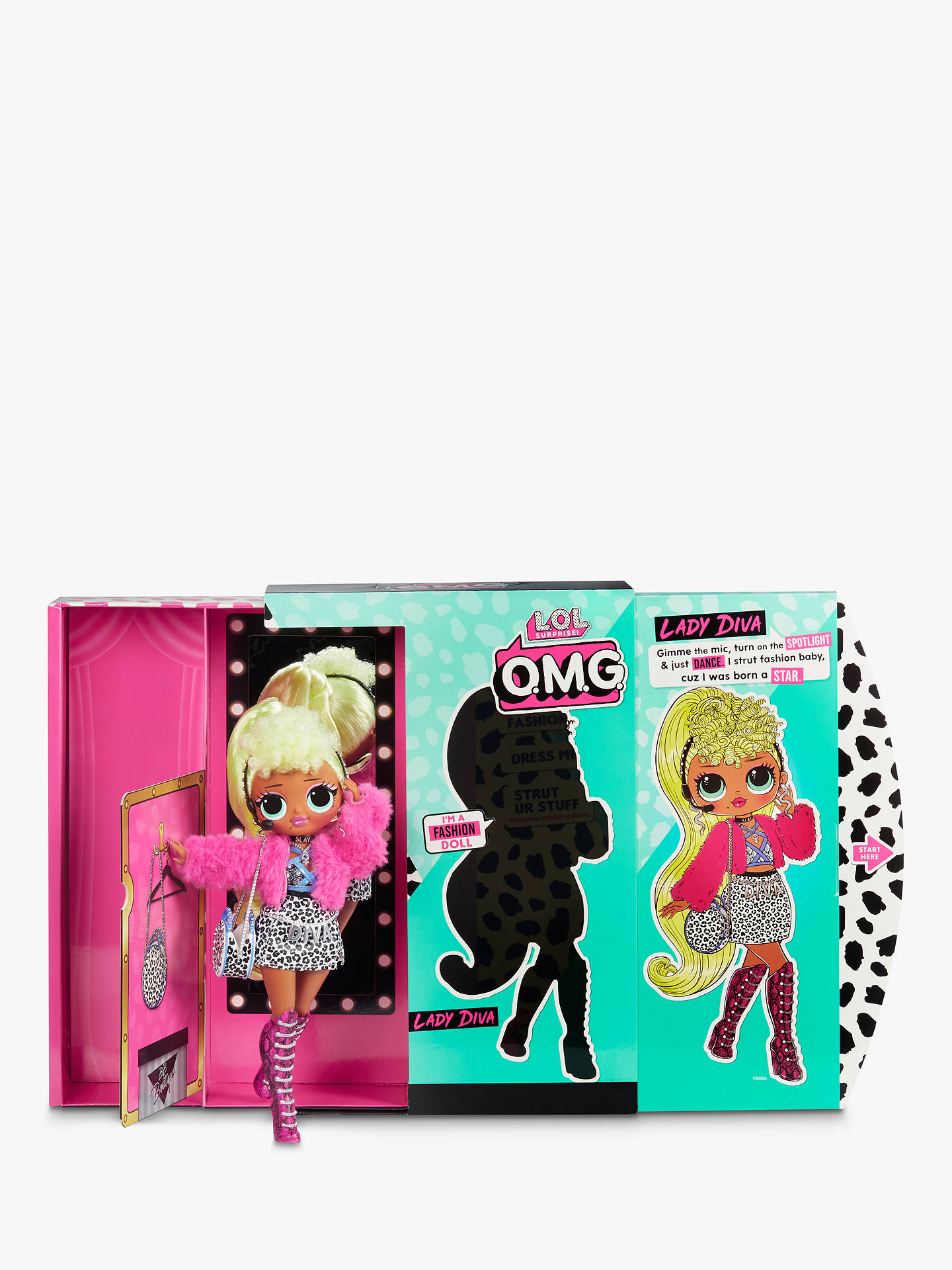 L.O.L O.M.G Surprise LADY DIVA  Fashion Doll with 20 Surprises