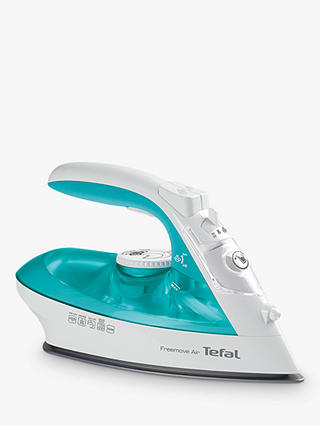 Buy Tefal Freemove Air Cordless FV6520 Steam Iron, Green/White Online at johnlewis.com