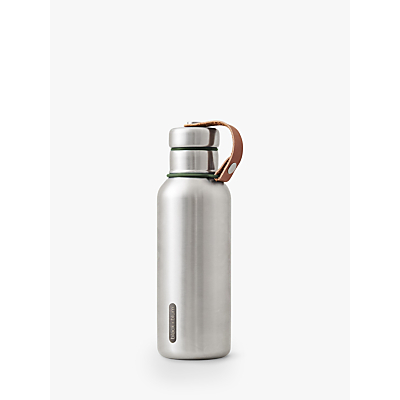 black+blum Stainless Steel Insulated Leak-Proof Drinks Bottle, 500ml, Olive/Silver