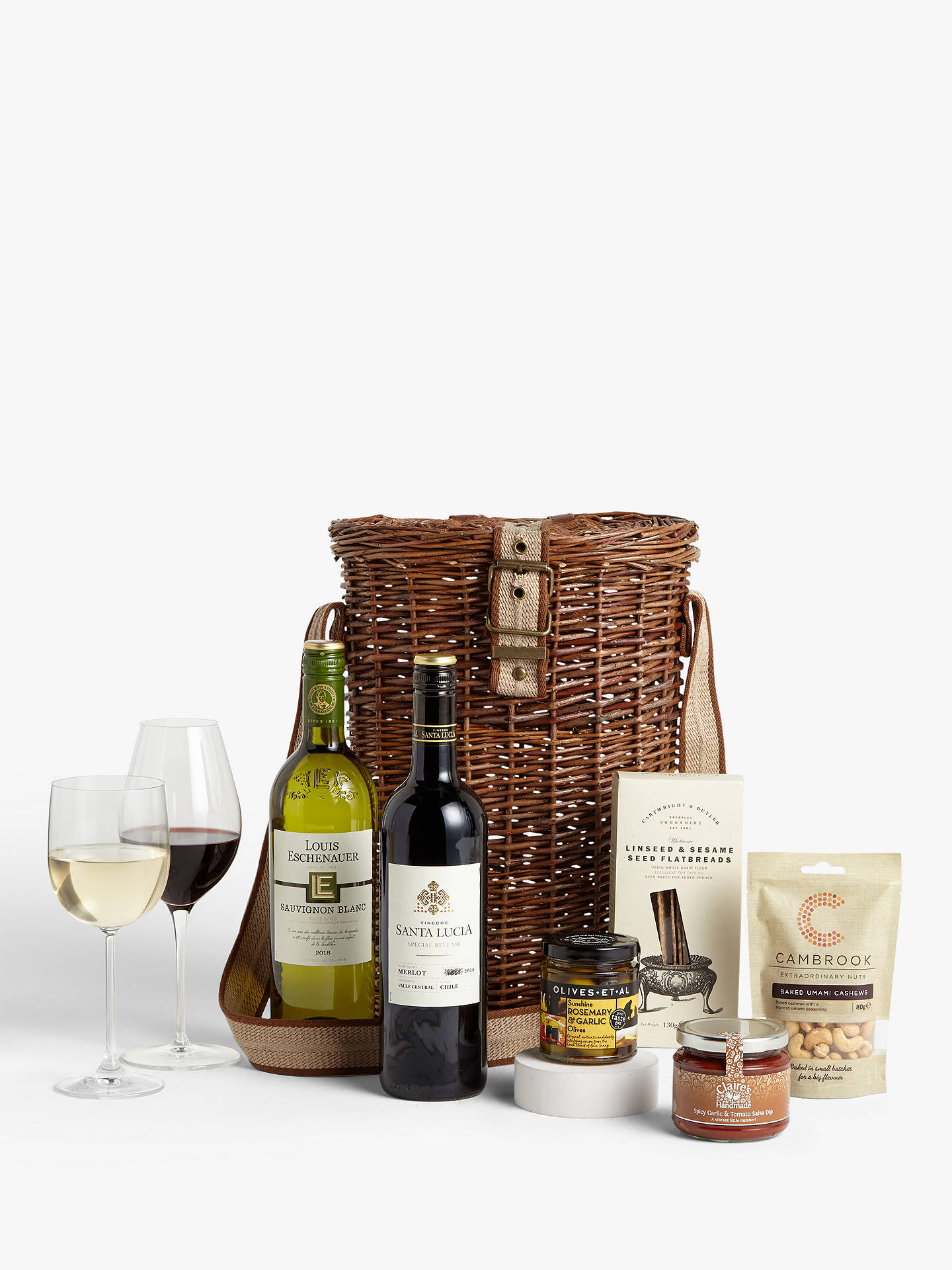 Buy John Lewis & Partners Wine Duo and Nibbles Christmas Hamper Online at johnlewis.com