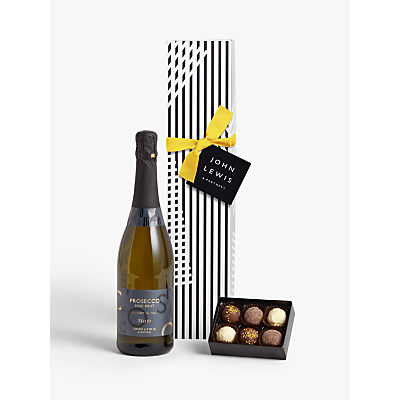 Image of John Lewis & Partners Single Prosecco & Chocolates Gift