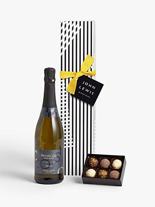 John Lewis & Partners Single Prosecco & Chocolates Gift