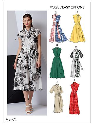 Vogue Women's Shirt Dress Sewing Pattern, 9471