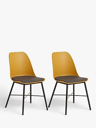ANYDAY John Lewis & Partners Whistler Dining Chairs, Set of 2, Mustard