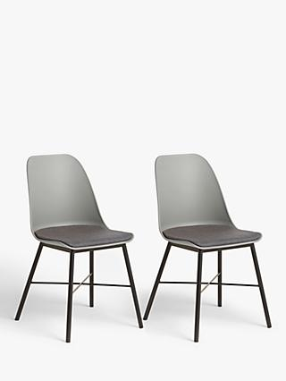 ANYDAY John Lewis & Partners Whistler Dining Chairs, Set of 2, Dusty Grey