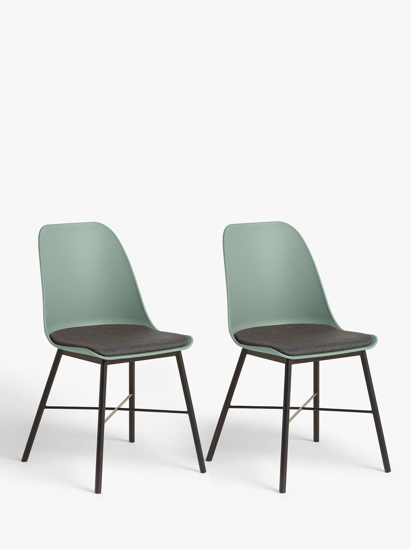 House by John Lewis Whistler Dining Chairs, Set of 2, Dusty Green