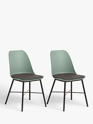 ANYDAY John Lewis & Partners Whistler Dining Chairs, Set of 2, Dusty Green