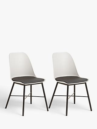 ANYDAY John Lewis & Partners Whistler Dining Chairs, Set of 2, White