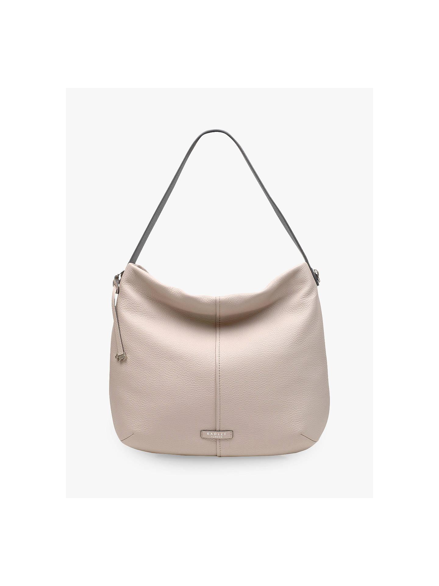 1dfe629702 Radley Rose Castle Leather Hobo Bag, Dove Grey