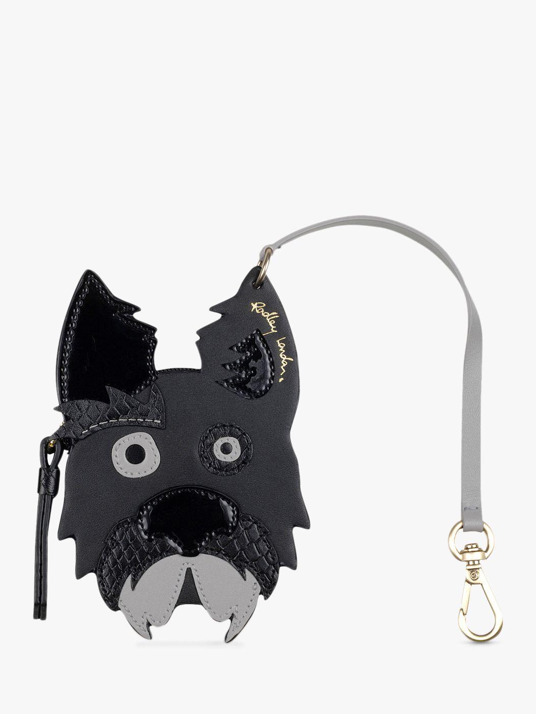 Radley Radley & Friends Leather Scottie Dog Bag Charm, Black