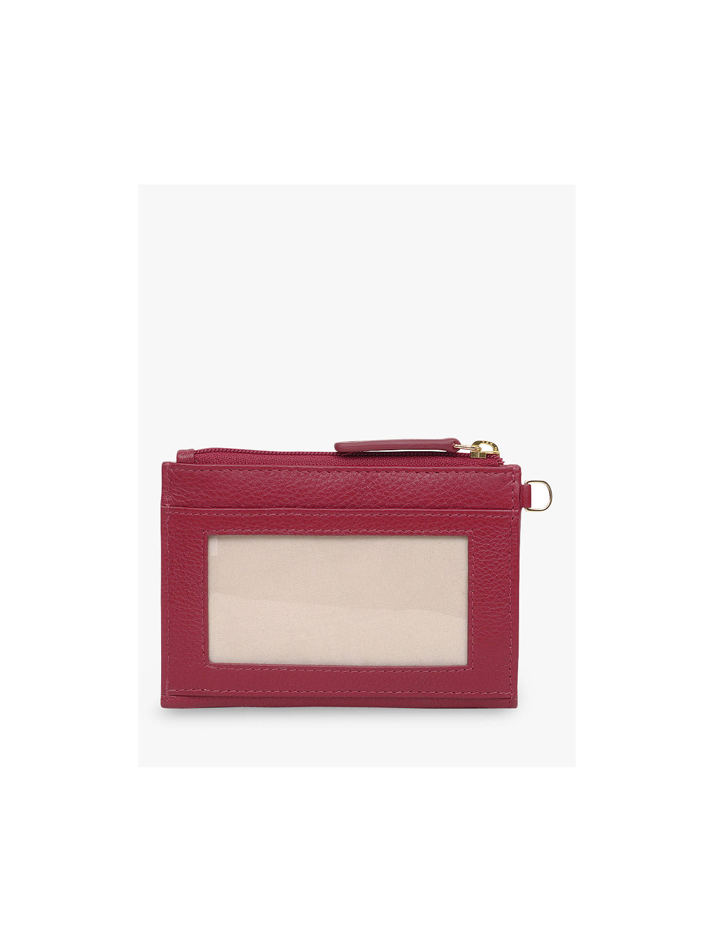 Buy Radley Pockets Leather Small Coin Purse, Red Online at johnlewis.com