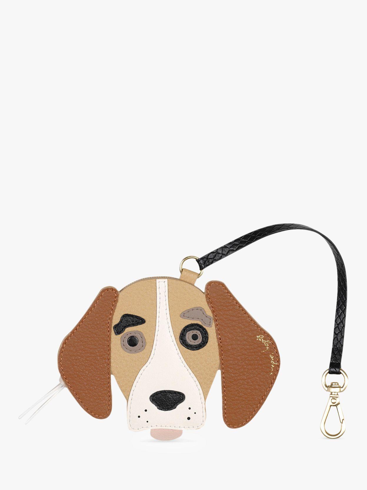 Radley Radley Radley & Friends Leather Beagle Bag Charm, Tan