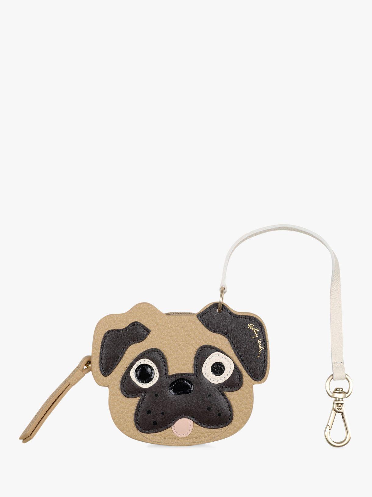 Radley Radley Radley & Friends Leather Pug Bag Charm, Sand