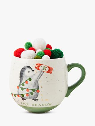 Anthropologie Dear Hancock Penguin Mug, 355ml, Multi