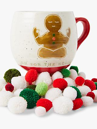 Anthropologie Dear Hancock Gingerbread Mug, 355ml, Multi