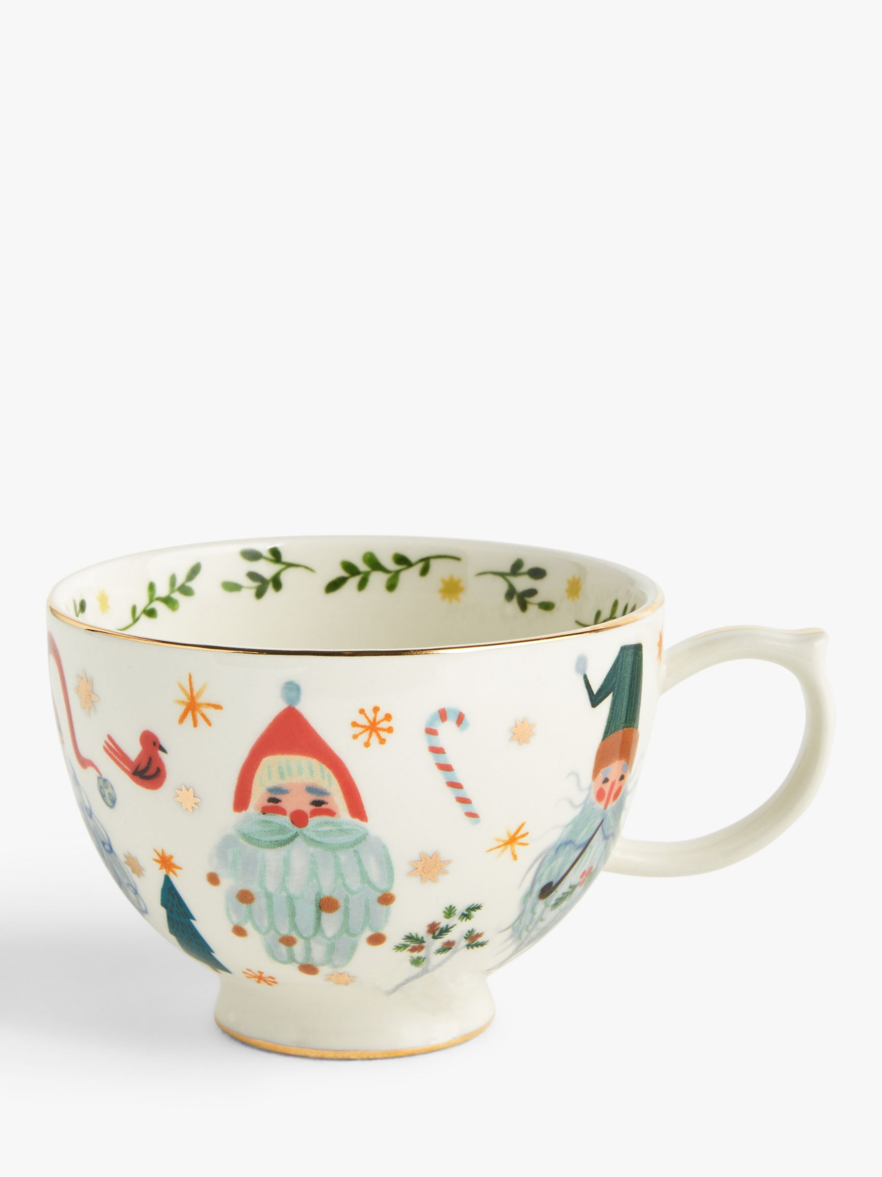 Anthropologie Christmas Santa Mug 384ml Multi At John Lewis Partners