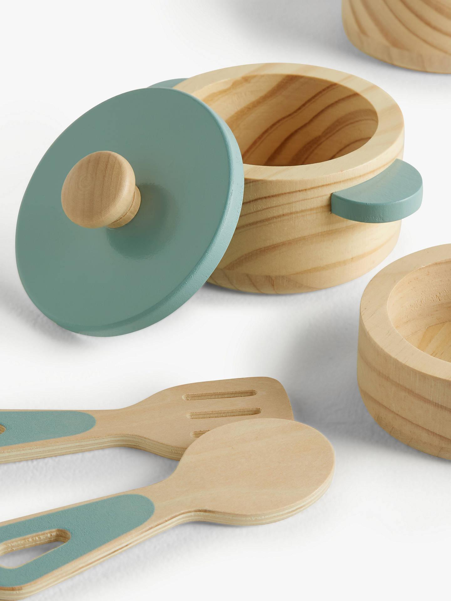 John Lewis & Partners Wooden Pots & Pans