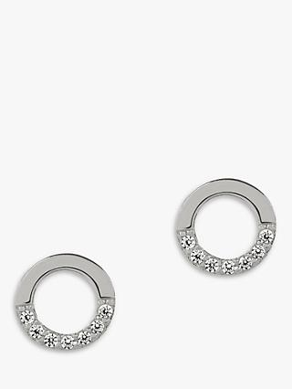 Matthew Calvin Zircon Semi Circle Stud Earrings