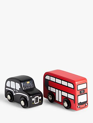 John Lewis & Partners Wooden London Bus & Taxi