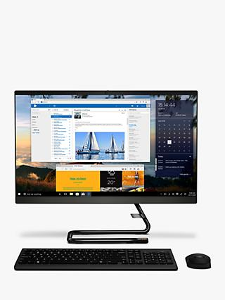 "Lenovo IdeaCentre A340-24IWL All-in-One Desktop PC, Intel Core i3 Processor, 8GB RAM, 1TB HDD, 23.8"" Full HD, Black"