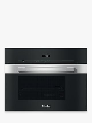 Miele DG2840 Integrated Single Steam Oven, Clean Steel