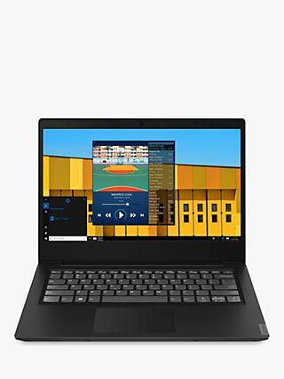 "Lenovo IdeaPad S145-14IWL Laptop, Intel Pentium Gold 5405U Processor, 4GB RAM, 128GB SSD, 14"", Black"