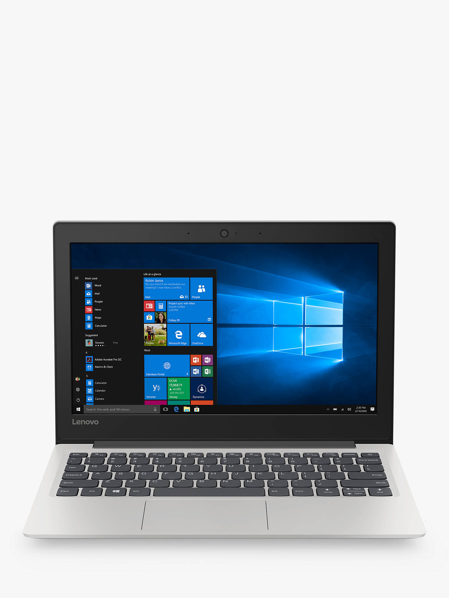 Lenovo IdeaPad S130-11IGM Laptop, Intel Celeron N4000 Processor, 4GB RAM,  64GB eMMC, 11 6