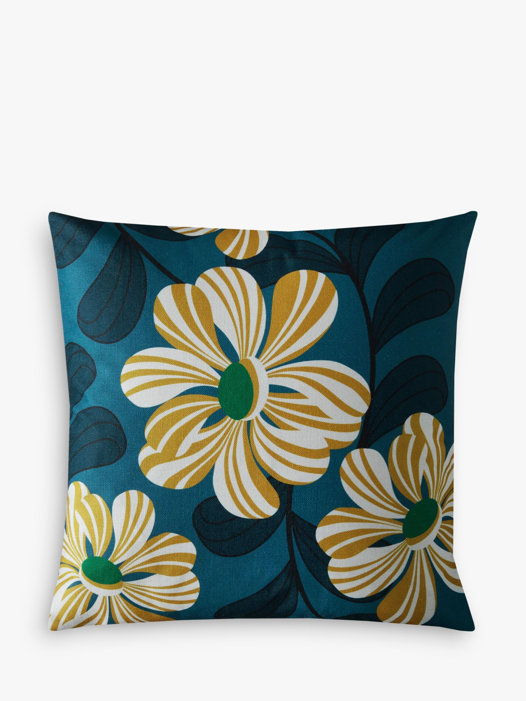 Buy Orla Kiely Acapulco Cushion, Teal Online at johnlewis.com