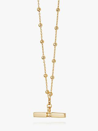 Daisy London Stacked Bead and T Bar Pendant Necklace
