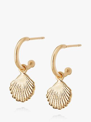 Daisy London Isla Shell Hoop Drop Earrings