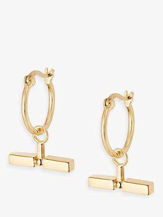 Daisy London Stacked Bead and T Bar Hoop Earrings