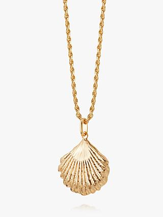 Daisy London Isla Large Shell Pendant Necklace, Gold