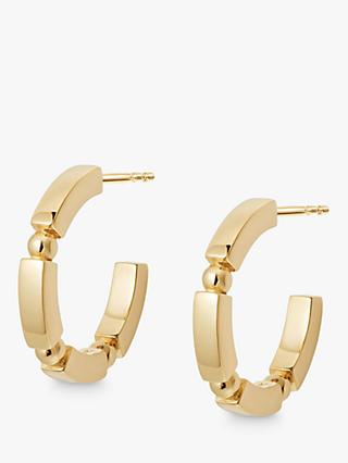 Daisy London Stacked Bead and Bar Hoop Earrings