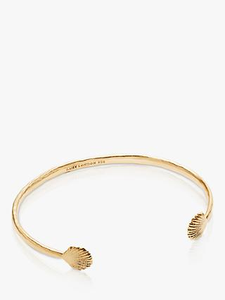 Daisy London Isla Shell Open Cuff, Gold