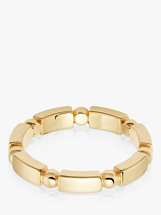 Daisy London Stacked Chunky Bead and Bar Ring, Gold