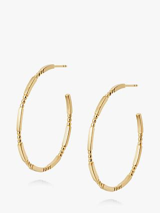 Daisy London Stacked Bead and Bar Thin Hoop Earrings