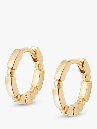 Daisy London Stacked Bead and Bar Huggie Hoop Earrings