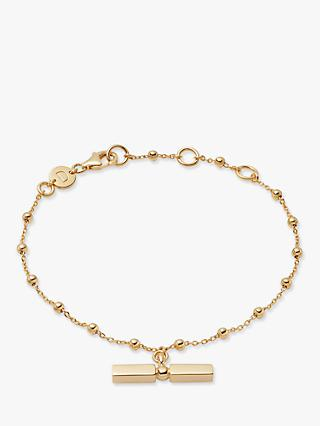 Daisy London Stacked Bead and T Bar Chain Bracelet