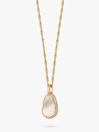 Daisy London Isla Mother of Pearl Pendant Necklace, Gold