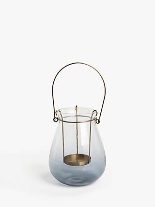 John Lewis & Partners Croft Outdoor Lantern Candle Holder, H15 cm
