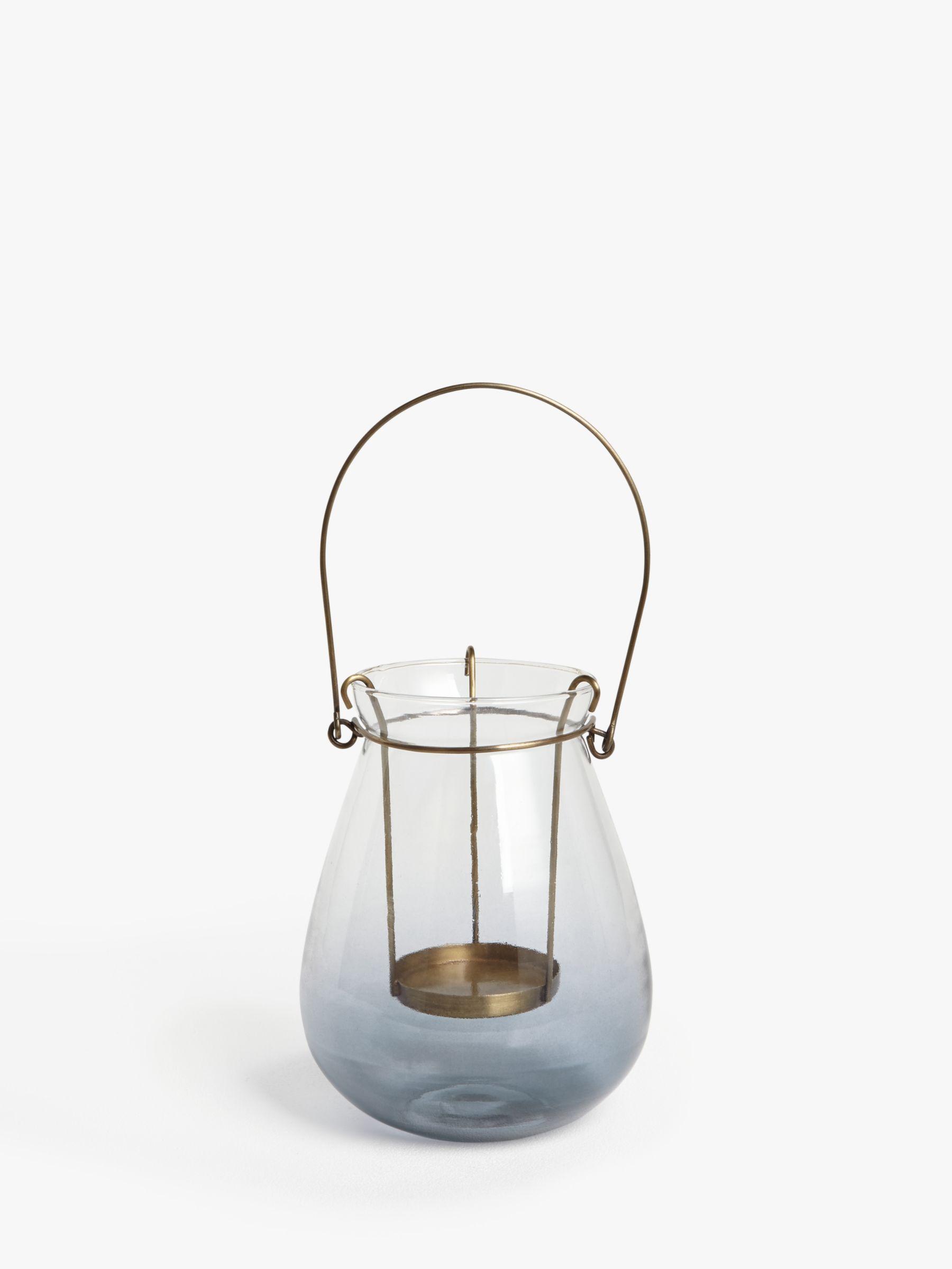 John Lewis & Partners Croft Outdoor Lantern Candle Holder, H15 cm