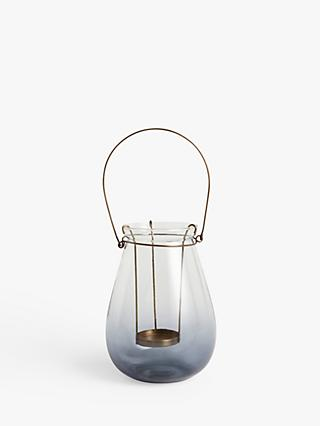 John Lewis & Partners Croft Outdoor Lantern Candle Holder, H19 cm