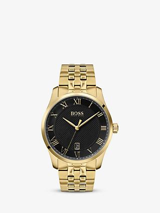 HUGO BOSS Men's Master Date Bracelet Strap Watch