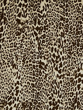 Spendlove Leopard Print Chiffon Fabric, Brown