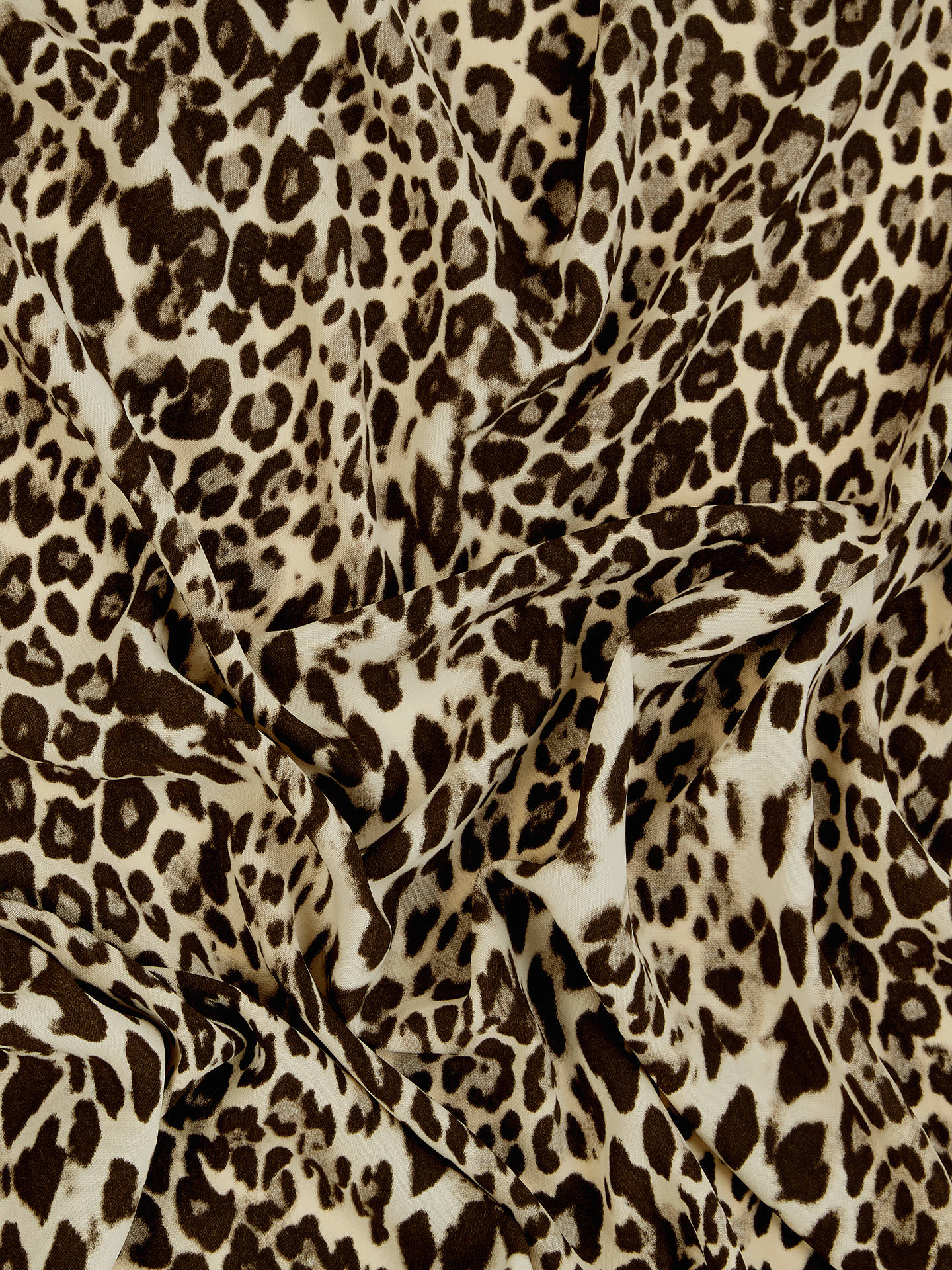 Buy Spendlove Leopard Print Chiffon Fabric, Brown Online at johnlewis.com