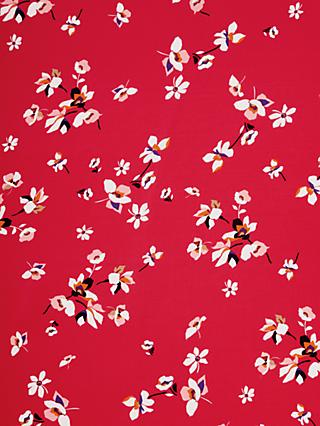 Spendlove Abstract Flower Heads Print Fabric, Pink